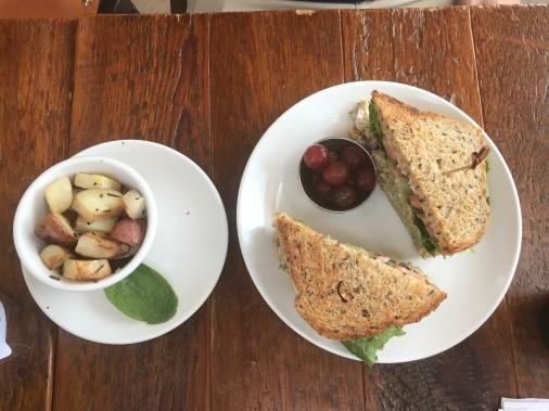 Beerline Cafe's Chick'n Salad Sandwich